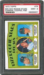 1972 Topps Red Sox Rookie Stars Garman, Cooper, Fisk #79