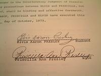 1973 Elvis Presley Signed Document