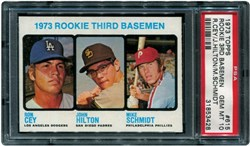 1973 Topps Rookie 3rd Basemen #615 (R.Cey/J.Hilton/M.Schmidt)