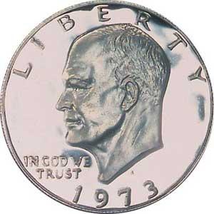 1973-S Eisenhower Dollar Obverse