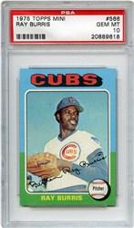 1975 Topps Mini Ray Burris #566