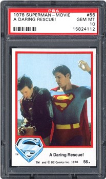 1978 Topps Superman-Movie A Daring Rescue! #56