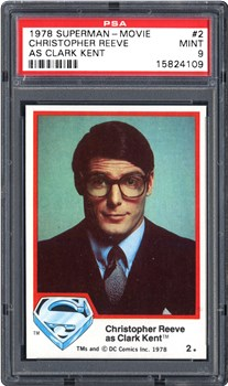 1978 Topps Superman-Movie Christopher Reeve as Clark Kent #2
