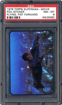 1978 Topps Superman-Movie Foil Sticker Flying Fist Forward