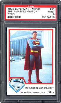 1978 Topps Superman-Movie The Amazing Man of Steel #51