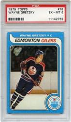 Lot 6: 1979 Topps Gretzky RC PSA 6