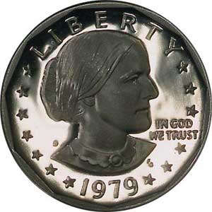 Obverse depicts Susan B. Anthony, well-known women's rights advocate
