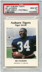 1987 Auburn Tigers Tiger Great Bo Jackson (Playing Football)