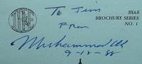 1988 Muhammad Ali Signature
