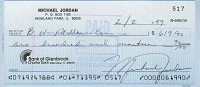 1989 Michael Jordan Signed Check