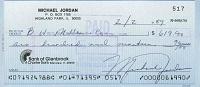 1989 Michael Jordan Signed Check