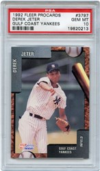 1992 Fleer Procards Gulf Coast Yankees Derek Jeter #3797