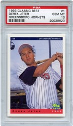 1993 Classic Best Green Horns Derek Jeter #1 (Greensboro Hornets)