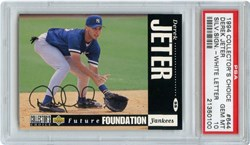 1994 Collector's Choice Derek Jeter #644 (Silver Signature-White Letter Variation)