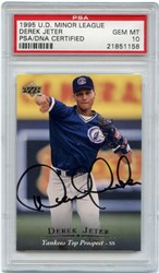 1995 Upper Deck Minor League Autograph Derek Jeter
