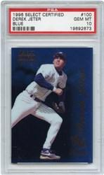1996 Select Certified Derek Jeter #100 (Blue)