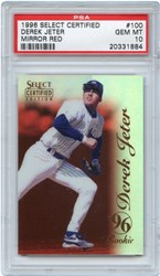 1996 Select Certified Derek Jeter #100 (Mirror Red)