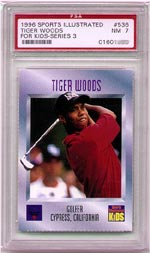 1996 SI for kids Woods Rookie Card