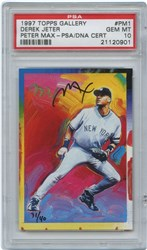 1997 Topps Gallery Peter Max Derek Jeter #PM1 (Peter Max Auto.)