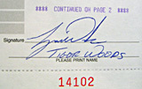1998 Tiger Woods Signed Document Closeup