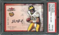 2000 Tom Brady Signed Fleer Card