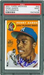 2001 Topps Archives Autographs Hank Aaron #40