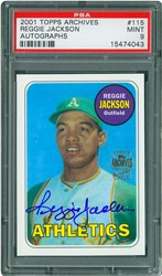 2001 Topps Archives Autographs Reggie Jackson #115