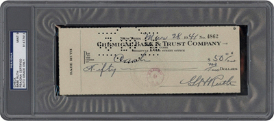 Babe Ruth Check