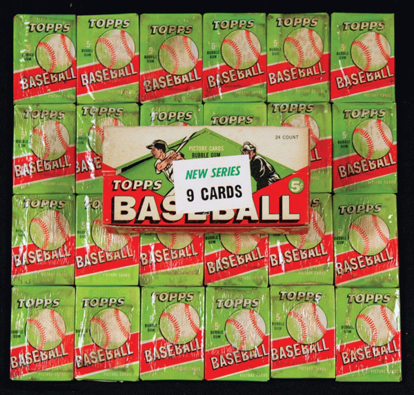 Topps unopened wax boxes