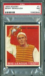 1933 Goudey #1 Benny Bengough