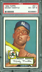 1952 Topps #311 Mickey Mantel