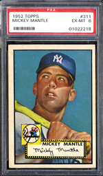1952 Tops Mickey Mantle