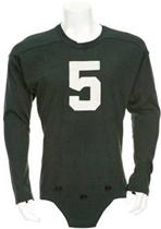 Paul Hornung's Circa 1954-1955 Fighting Irish Football Jersey