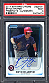 2011 Bowman Chrome Bryce Harper Signed Card