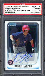 2011 Bowman Chrome Prospects Bryce Harper Autographed Rookie Card, #BCP111