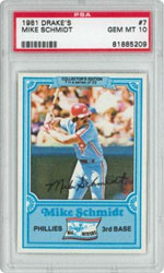 1981 Drake's #7 Mike Schmidt
