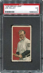 T206 Broad Leaf Joe Kelley PSA VG 3