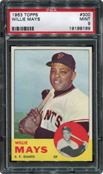 1963 Topps Willie Mays PSA MINT 9