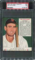 1952 Red Man Tobacco Ted Williams PSA NM 7
