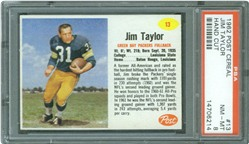 1962 Post Cereal #13 Jim Taylor