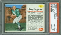 1962 Post Cereal #37 Sonny Jurgensen