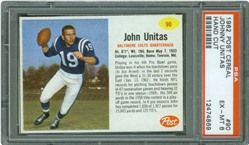 1962 Post Cereal #90 Johnny Unitas