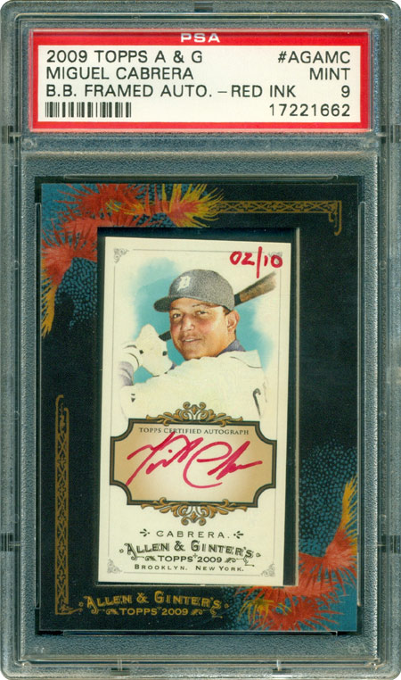The 2009 Topps Allen Ginter Red Ink Autographs Set An Interesting And Challenging Modern