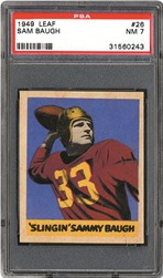 1949 Leaf Sam Baugh PSA NM 7
