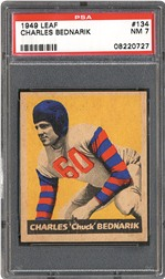 1949 Leaf Charles Bednarik PSA NM 7