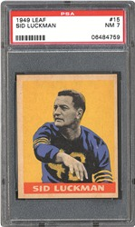 1949 Leaf Sid Luckman PSA NM 7