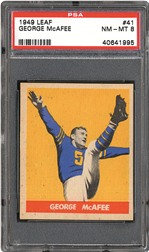 1949 Leaf George McAfee PSA NM-MT 8