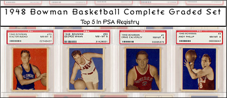 #5 Finest 1948 Bowman Basketball Set on PSA Set Registry Headlines Premier Auctions' October 16, 2012 Sale