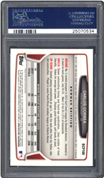 PSA holders for certified trading cards, tickets and unopened packs now contain the item's unique serial number and barcode on the back of the insert label as well as the front.