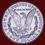 reverse of 1921-S Morgan dollar